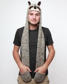 Delux Raccoon Animal Hat Hood « Clothing Adds for your desire