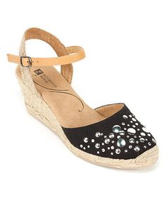 Look what I found on #zulily! Black Solar Espadrille by White Mountain #zulilyfinds