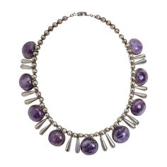 William Spratling Sterling Silver Necklace with Amethyst