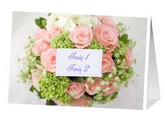 Kartka z bukietem kwiatów, na której możemy umieścić własny tekst
