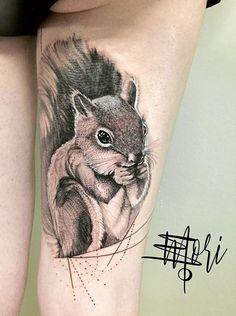 Mo Mori ink squirrel tattoo