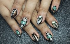 Spring Color Block Cut Out Nails! - Nail Art Gallery