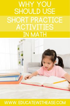 Read this blog post to learn the disadvantages of long practice assignments and the benefits of using short practice activities in math. Short practice activities can include exit tickets, individual whiteboard practice, and short worksheets. Small Group Activities, Math Activities, Persuasive Writing, Writing Rubrics, Paragraph Writing, Opinion Writing, Simple Math, Easy Math, Math Intervention