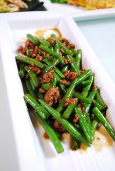 Main Dishes, Side Dishes, Japanese Food, Bon Appetit, Green Beans, Tasty, Asian, Vegetables, Cooking