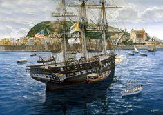 1 de Agosto de 1849, el Papa Pío IX visita la fragata USS Constitution en el puerto italiano de Gaeta, cortesía de Tom Freeman. http://www.elgrancapitan.org/foro/viewtopic.php?f=21&t=11680&p=884707#p884707
