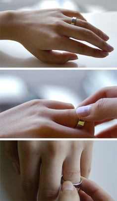 "Inner Message Rings-Leaves A Message On Your Skin. A few years ago a Korean singer wrote a song about the sunburn mark that he found on his finger after he broke up with his girlfriend & removed a ring he had been wearing for a long time.    This is the story that inspired him to make ""Inner message ring"", a ring with hidden letters on the inside. When you wear this ring, after a while, the message will imprint on the wearer's finger. The two messages here are ""marry me"" and ""always"". Good i..."