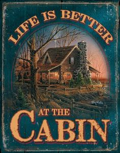 I am preparing my own little cabin in the woods. Life IS better at the cabin! Log Cabin Living, Small Log Cabin, Little Cabin, Log Cabin Homes, Cozy Cabin, Cottage Living, Lake Cabins, Cabins And Cottages, Terry Redlin