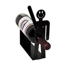 Happy Guy Metal Art Wine Holder Rack Free di KnobCreekMetalArts