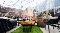 Just in time for spring, you can wine and dine on the Chicago Riverwalk within the comfort of a cool, transparent dome, courtesy of City Winery. Chicago Riverwalk, City Winery, Chicago City, Chicago Travel, New River, River Walk, Walking City, Summer Bucket Lists, Route 66
