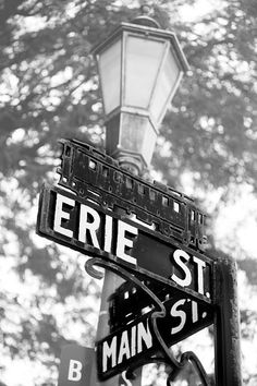 The fifth image in a series of iron street signs on Main St Brockport, NY
