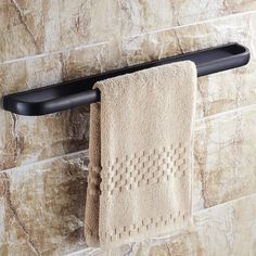 Classy 22 Inch Antique Black Solid Brass Wall Mounted Single Towel Bar - Towel Bars - Bathroom Accessories