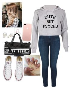 """""""Untitled #24"""" by abbiemiller-1 on Polyvore featuring J Brand, Converse and Allurez"""