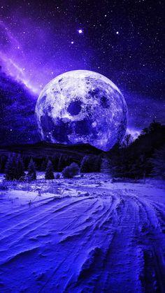 Mountain Moon iPhone Wallpaper - iPhone Wallpapers
