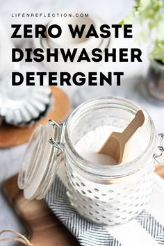 Diy household tips 193865958948164669 - Hard water deposits and grease are no problem for this easy zero waste dishwasher detergent and DIY rinse aid. Get our recipes now!