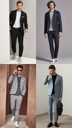 Men's T-Shirts With Suits Outfit Lookbook Inspiration