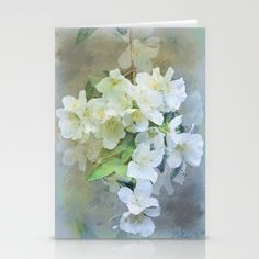 Set of folded stationery cards printed on bright white, smooth card stock to bring your personal artistic style to everyday correspondence.  Each card is blank on the inside and includes a soft white, European fold envelope for mailing. 20% Off + Free Shipping - Ends Tonight at Midnight PT! #spring #flowers, art,#Sale, #mothers #day #greeting #stationary #cards