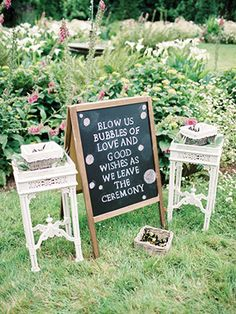 wedding exit bubbles wedding sign  ~  we ❤ this! moncheribridals.com