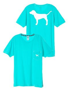 Victoria's Secret PINK Campus Short Sleeve Tee with Dog Logo Ibiza Blue - game for dummies Victoria Secrets, Victoria Secret Outfits, Victoria Secret Pink, Pink Outfits, Summer Outfits, Cute Outfits, Swag Outfits, Skirt Outfits, Stylish Outfits