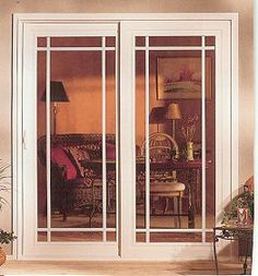Sliding Patio Doors that look like French doors Installing French Doors, Sliding French Doors, Sliding Patio Doors, Sliding Glass Doors, Double Doors, French Doors Bedroom, French Doors Patio, House Windows, Windows And Doors