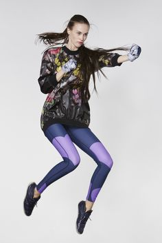 A look from Cynthia Rowley's new fitness line. [Photo by William Eadon]
