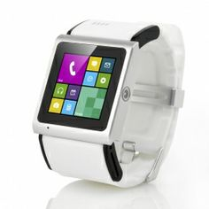 Liger Android Smart Phone Watch - 1.54 Inch TFT Touch Screen, MTK6577 Dual Core 1GHz CPU, 3 Megapixel Camera, 3G (White)