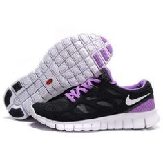 billig antikk dame nike free run plus 2 svart purple