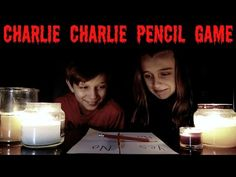 CHARLIE CHARLIE PENCIL GAME CHALLENGE - SO SCARY! - YouTube