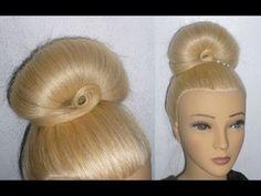 Easy Frisur mit Duttkissen:Dutt mal anders.Hochtsteckfrisur.Donut Updo Hair Bun Hairstyle.Peinados - YouTube