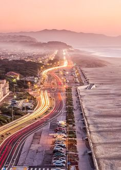 Ocean Beach Drive, San Francisco, California, USA