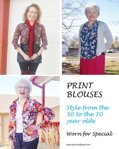 How to Wear a Print Blouses for a Dress up Occasion
