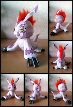 This paper model is Gomamon was created by deviantARTist Destro2k. Gomamon first appeared in Digimon anime series.