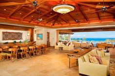 Majestic Hawaiian Home. Love the open floor plan Tropical Kitchen, Outdoor Tub, Hawaiian Homes, Tropical Architecture, My Dream Home, Dream Homes, Building Plans, Building Ideas, Earth Homes