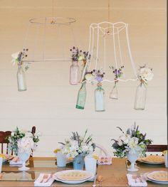 la decoración de mis mesas: Ideas para la mesa: Frascos colgantes