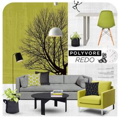 Lounge Polyvore HQ by magdafunk on Polyvore featuring interior, interiors, interior design, дом, home decor, interior decorating, Muuto, Herman Miller, Surya and David Design