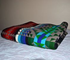 Pendleton Wool Blanket  Beaver State   by ChicMouseVintage on Etsy