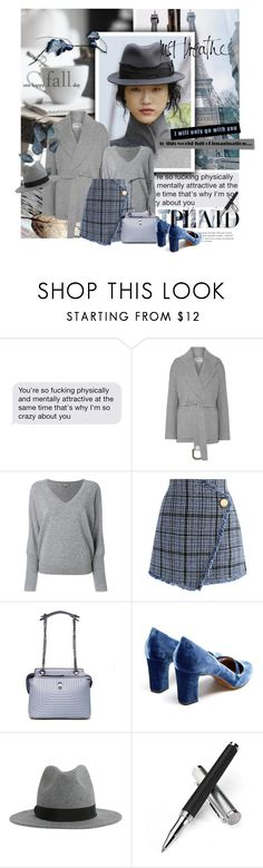 """Check It: Plaid"" by lacas ❤ liked on Polyvore featuring Prada, Christian Dior, Acne Studios, N.Peal, Chicwish, Fendi, Tabitha Simmons, Dsquared2, Aspinal of London and plaid"