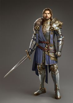 Artstation - the king, li zehao rpg fantasy - characters пал Fantasy Heroes, Fantasy Male, Fantasy Armor, Medieval Fantasy, Dungeons And Dragons Characters, D&d Dungeons And Dragons, Dnd Characters, Fantasy Characters, Character Design Cartoon