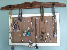 Jewelry Hanger / Cork Board.