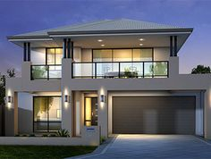 Modern House Exterior Design likewise Small 2 Story House Floor Plans also Flat Roof Modern Home Design furthermore Small One Bedroom House Plans Under 1000 Sq FT as well Federal Adam Style House Plans. on modern colonial house plans Two Story House Design, 2 Storey House Design, Two Story House Plans, Modern House Plans, Double Storey House Plans, Double Story House, Two Story Homes, Minimalist House Design, Modern House Design