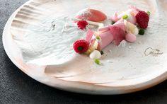 Raspberry, Basil, White Chocolate, Merringue