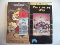 2 VHS Charlotte's Web & The Secret of NIMH Family Childrens Videos Animated NTSC