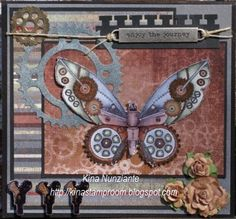 Steampunk Butterfly by knunziante - Cards and Paper Crafts at Splitcoaststampers