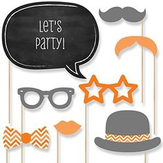 The perfect photo booth begins with fabulous photo booth props. Our printed and cut kit will help you easily create fun party photos at your baby shower, birthday party or bridal event. This Chevron Gray party photo booth props kit come with 20 pieces, on Orange Party, Purple Party, Red Party, Baby Shower Themes, Baby Shower Decorations, Shower Ideas, 60th Birthday, Birthday Parties, Rainbow Photo