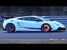 Best sounding car for me: Modified Lamborghini Gallardo LP570 with Glowing Brakes on the Track!