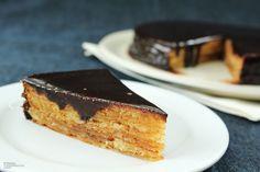 Chocolate Coated Layer Cake