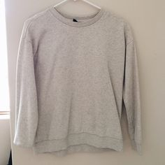 Forever 21 gray pullover sweater Comfy gray pullover! Baggy and can be worn with anything! Only worn a couple times. Like new.  Forever 21 Sweaters