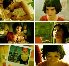 """""""Narrator: Amelie has a strange feeling of absolute harmony. It's a perfect moment. A soft light, a scent in the air, the quiet murmur of the city. A surge of love, an urge to help mankind overcomes her."""" Amelie - my favorite film Amelie, Audrey Tautou, Plus Tv, Movies Worth Watching, Victor Hugo, About Time Movie, Film Music Books, Moving Pictures, Film Stills"""