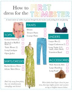 How to hide a baby bump or just look slimmer in the first trimester