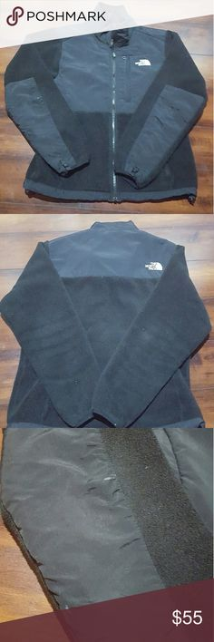 Women's black North Face denali fleece jacket, L Women's large black North Face denali fleece jacket.  Small spot on sleeve, shown in picture. North Face Jackets & Coats