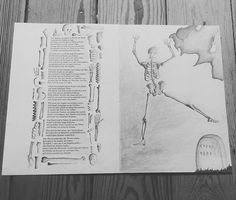 #totentanz #illustration #goethe #pencildrawing #drawing #pencil #skeleton #danceofdeath